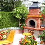 Как построить камин барбекю у дома
