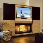 Располагаем камин и телевизор в одной комнате