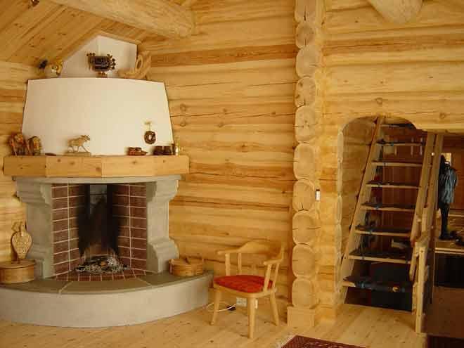 Камины в деревянный дом