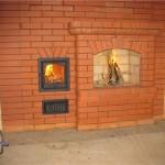 Кирпичная печь-камин для дома