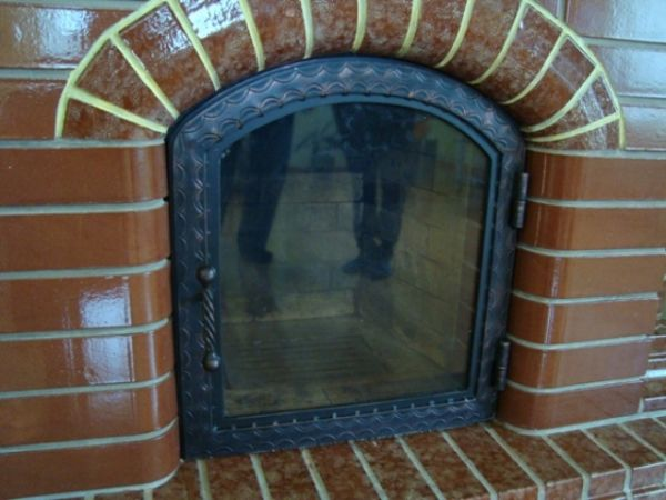 Дверца печная со стеклом своими руками