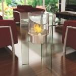 Интерьеры со стеклянными каминами