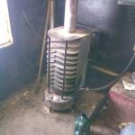Печь на отработанном масле с водяным контуром