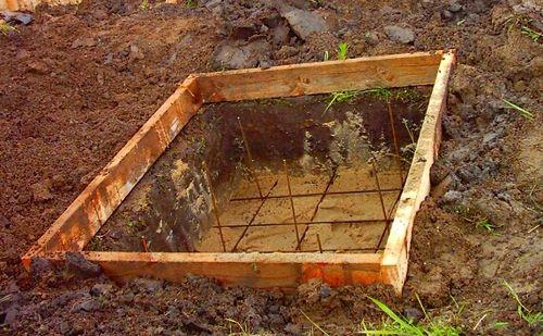 Делаем фундамент под печь
