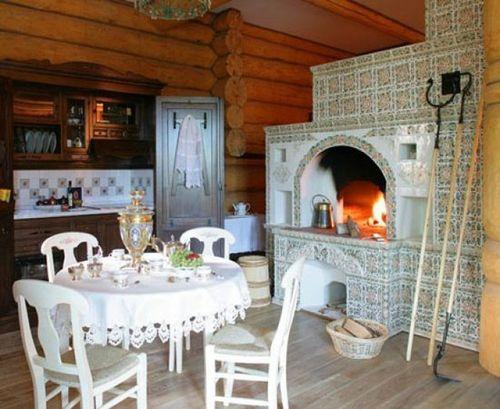 Русская печь в интерьере дома