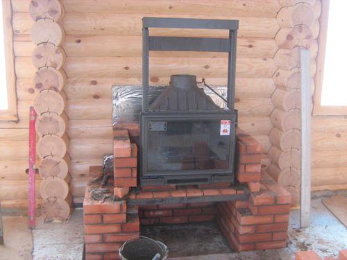 Строим печь в деревянном доме