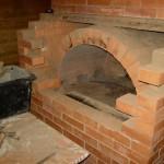 Кладка арки из кирпича в печи