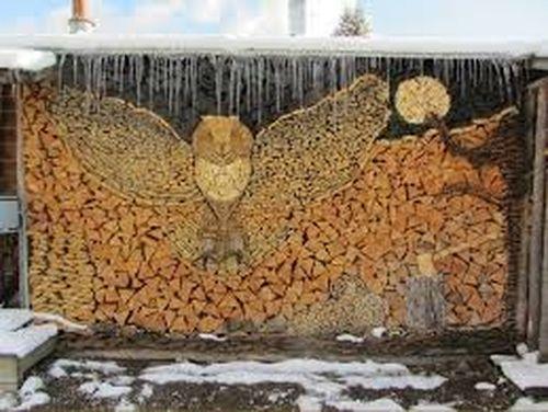 Укладка дров на зиму