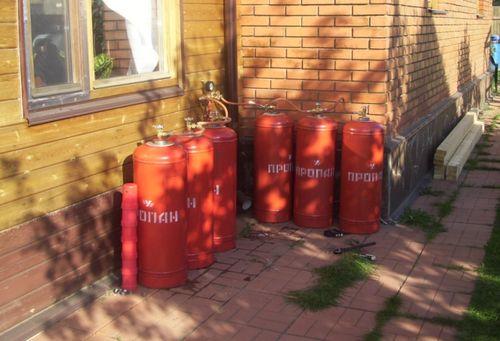 Автономная газификация с помощью газовых баллонов