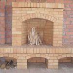 Оптимальная схема кладки камина из кирпича
